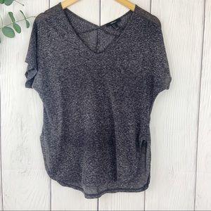 F21 Grey Marled Knit Shirt